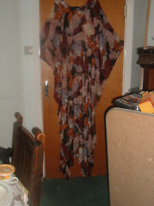 Floaty Long BohoHippy Festival Dress XXL free size Sheer Top Brown colours new