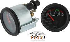 Voltímetro Medidor de panel de control de motor de vehículos analógico 16-32 voltios 52MM 160696