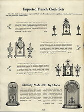 1937 PAPER AD French Marble Clock Clocks Vases Gilt Finish Ornate Anniversary