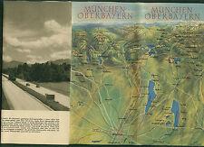 Alter Prospekt München Oberbayern Fotos Informationen Panorama-Karte 1952