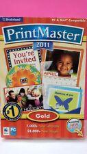 Encore Broderbund PrintMaster Gold 2011 for PC, Mac - 705381701873
