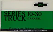 71 1971 Chevy Chevrolet truck Owners manual glove box
