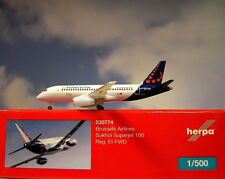 Herpa Wings 1:500  Sukhoi Superjet100 Brussels Airlines 530774  Modellairport500