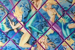 Alexander Henry Mermaid Pin Up Hand Crafted Fabric Notice Pin Memo Memory Board
