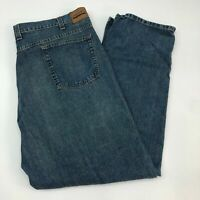 Axist Jeans Mens 44X32 Blue Relaxed Fit Straight Leg 100% Cotton Medium Washed