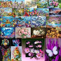 5D DIY Full Drill Diamond Painting Animal Flower Cross Stitch Kits Home Decor