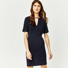Warehouse V Front Dress Navy Size UK 8 Dh170 HH 14