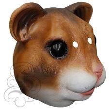 Latex Full Head Animal Cosplay Fantasy Hamster Fancy Dress Carnival Party Mask