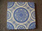 Antique Arts   Crafts style blue tile  21 320S