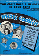 """WHAT'S COOKIN' """"You Can't Memory In Your Arms"""" Gloria Jean Andrew Sisters"""