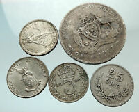 GROUP LOT of 5 Old SILVER Europe or Other WORLD Coins for your COLLECTION i75637