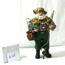 """VINTAGE 12"""" ~SANTA HAS GONE FISHING, SEE WHAT HE CAUGHT~"""