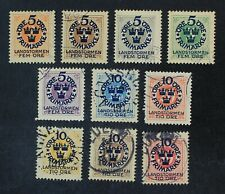 CKStamps: Sweden Stamps Collection Scott#B1-B10 Used