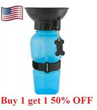 Dog cat pet Mug Portable Travel Auto Bottle Water Bowl Fits Cup Holder feeder