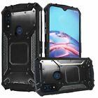 For Motorola Moto E (2020) Metal Jacket Hybrid Rugged Case Cover+TemperedGlass