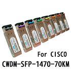 For Cisco CWDM-SFP-1470 1G 70km SFP Transceiver