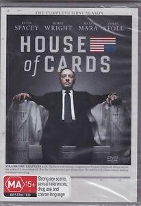 House Of Cards - The Complete First Season - DVD (Brand New Sealed) Region 2 & 4