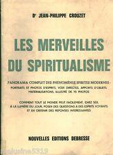 Livre ancien les merveilles du spiritualisme     book