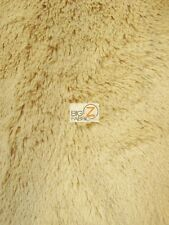 SOLID SHAGGY MINKY FABRIC - Light Camel - BY THE YARD BABY SOFT BLANKET DECOR