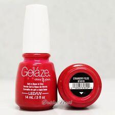 Gelaze China Glaze LED UV Nail Gel Color Polish 0.5 oz - Strawberry Fields 81810