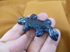(Y-Liz-Ur-701) Blue Sodalite Uromastyx Lizard carving Figurine gemstone lizards