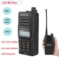 Baofeng UV-9R Plus Two Way Radio Walkie Talkie 8W VHF UHF FM Dual Band Handheld