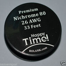 Nichrome 80 Resistance Wire 0.4MM AWG 26 Gauge Ni80 33Feet/10Meter Free Shipping