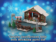 LEGO Winter Village Theater INSTRUCTIONS ONLY for LEGO Bricks (Christmas)