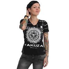 Neues Yakuza Damen Mandala V-Neck T-Shirt - Schwarz