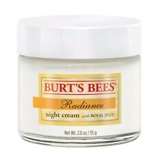 New Sealed Burts Bees Radiance Night Cream w/ Royal Jelly Natural 2 oz
