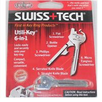 Swiss Tech Tools 6 In 1 Utili Key Multitool Pocket Keychain Outdoor Camping Tool