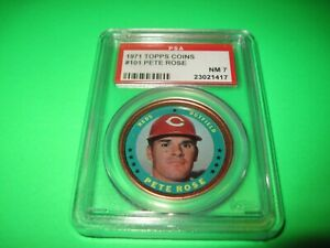 1971 Topps Coin # 101 Pete Rose PSA 7 NM Cincinnati Reds ,,Great copper border