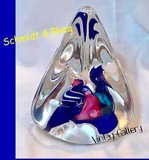 SCHMIDT & RHEA ART GLASS Paperweight Signed S/R 91@ / VINTAGE 1991