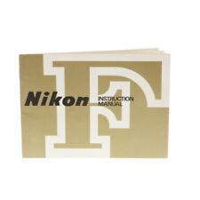 Nikon F Instructions Manual, Printed in Japan - Ex