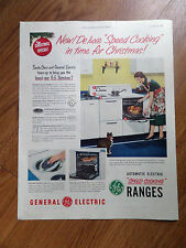 1950  GE General Electric Range Ad Speed Cooking in time for Christmas