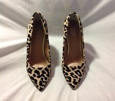Wendy Williams Leather Haircalf Pump-Size 9W, Leopard Print