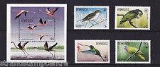 Dominica - 1984 Birds (WWF) - U/M - SG 870-3 + MS874