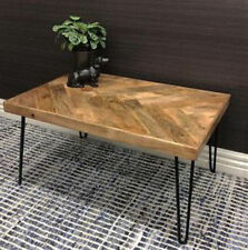 JACKSON PARQUETRY SQUARE COFFEE TABLE WINE SIDE LAMP TIMBER TOP