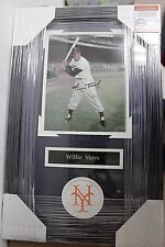 Willie Mays SF Giants signed professionally framed matted 8x10 photo PSAS COA