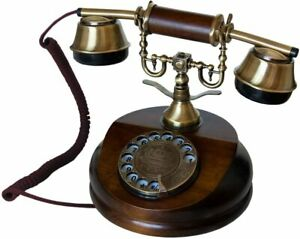 OPIS 1921 CABLE - MODEL A - vintage phone/retro telephone with wood and metal bo