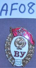 AF08 Soviet era Graduation badge from military school, original