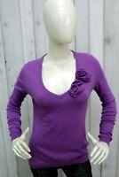 MOSCHINO Maglione Donna Taglia 42 - S Lana Sweater Casual Maglia Manica Lunga