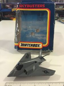 1991 Matchbox Skybusters SB 36 Lockheed F 117A Stealth Air Force Jet Plane