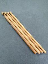 "Bamboo Crochet Hooks Needles Set of 4 or 8  6"" Long"