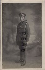 WW1 soldier Pte ASC Army Service Corps wears Driver's Goggles June 1915