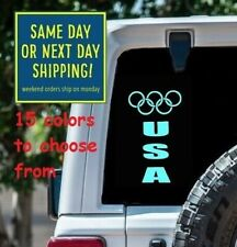 8 Sizes USA Olympics Car Window Decal Sticker Macbook Laptop Tablet Wall Gift