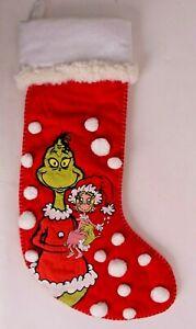 New Pottery Barn PB Teen Grinch & Cindy Lou Who Christmas stocking *sample*