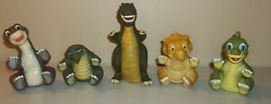 Land Before Time Hand Puppets - 5 Dinosaurs - 1988 Pizza Hut