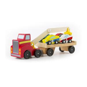 Melissa & Doug 19390 Magnetic Lift Car Crane New Wood! #
