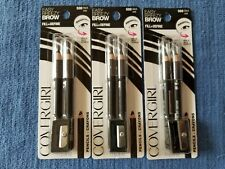 (3) NEW 2-packs of COVERGIRL Brow & Eye Makers pencils 500 Black 6 total